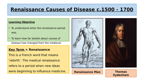 Renaissance Causes of Disease