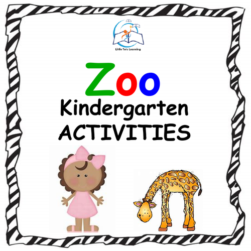 Back to School Kindergarten Activities {ZOO Theme}