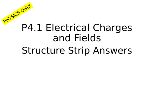 P4 Electrical Circuits Structure Strips and Answers