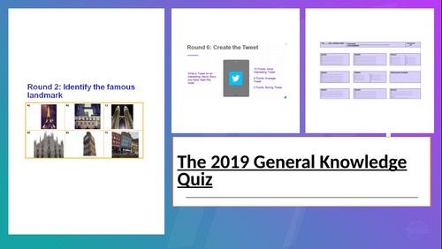 60 Question General Knowledge Powerpoint Quiz by mmilne