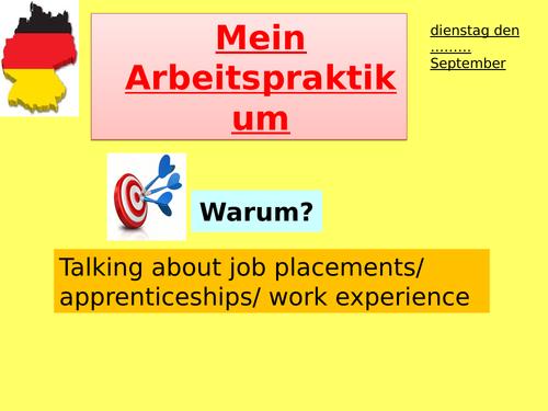 Mein Arbeitspraktikum/ Was macht man bei der Arbeit? - (my work experience)