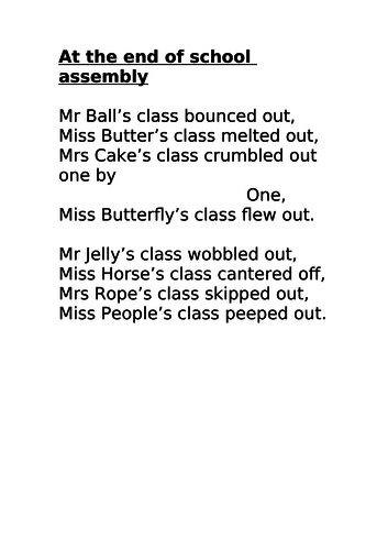 Year 3 - English - Poetry - Unit of Work