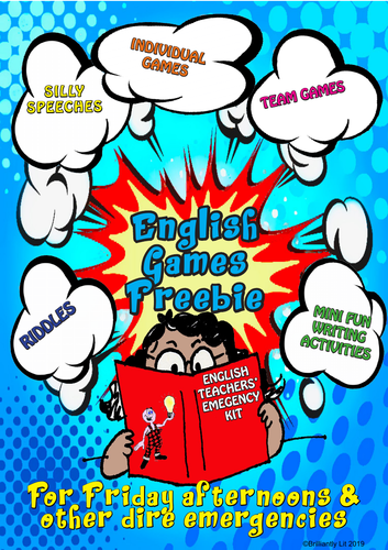 English Games & Activities Fun Freebie