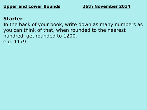 Introduction to Upper and Lower Bounds