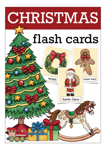 Christmas flash cards, picture cards, great for ESL classes!