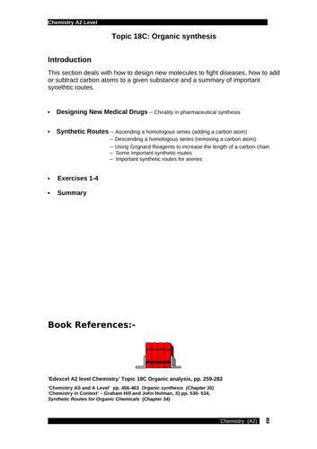 Edexcel chemistry Topic 18C: Synthetic routes