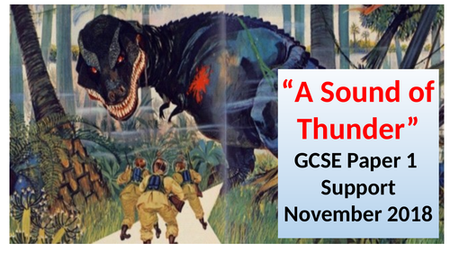 """Teaching AQA Nov 2018 Papers 1 and 2-""""The Sound of Thunder"""" /""""All Cyclists Fear Bad Drivers"""" etc"""