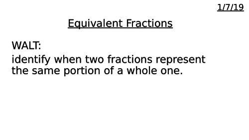 Fractions Bundle: Equivalence, Ordering and Adding.