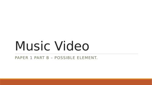 OCR media studies Music Videos