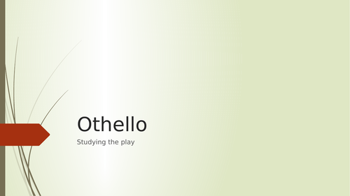 Resource for teaching Othello as an A Level text - for EDEXCEL Lit.