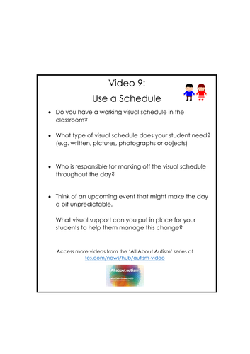 Video 9: Use a Schedule