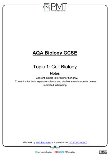 AQA GCSE Biology Revision Notes (new 9-1 spec)