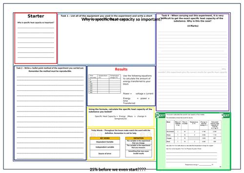 Specific Heat Capacity write up sheet