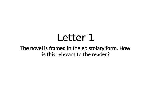 A level  Frankenstein Walton's letters powerpoints- 4 in total