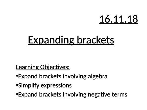 Expanding single brackets