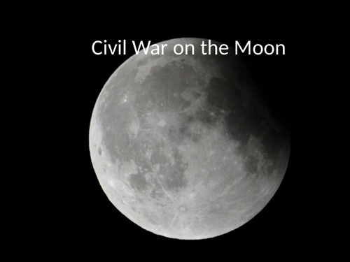 Civil War on The Moon, by Ted Hughes, space poetry