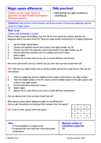 Use different strategies to subtract - Problem-Solving Investigation - Year 3