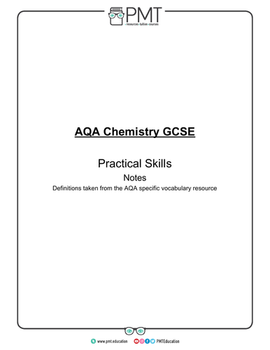 AQA GCSE Chemistry Required Practicals