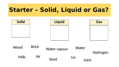 States of Matter, Solids - Year 7 KS3