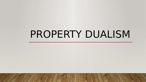 Property Dualism, Mary's room, epiphenomenalist dualism