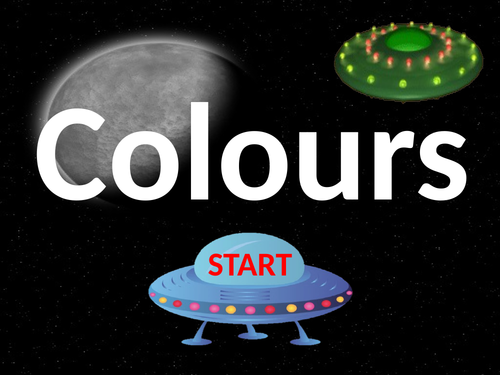 Colours in English. Game.