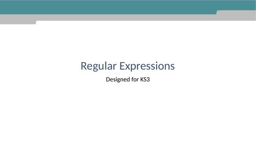 Regular expressions for GCSE and A level computing
