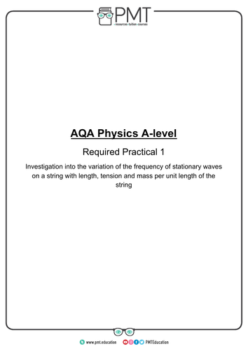 AQA A-Level Physics Required Practicals