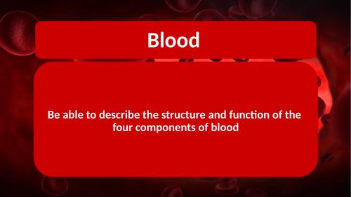 AQA GCSE Biology B2 Components of Blood