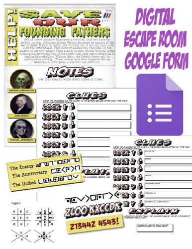Save the Founding Fathers Digital Escape Room