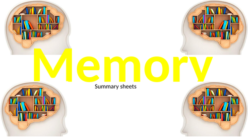 AQA Psychology: Memory summary sheets