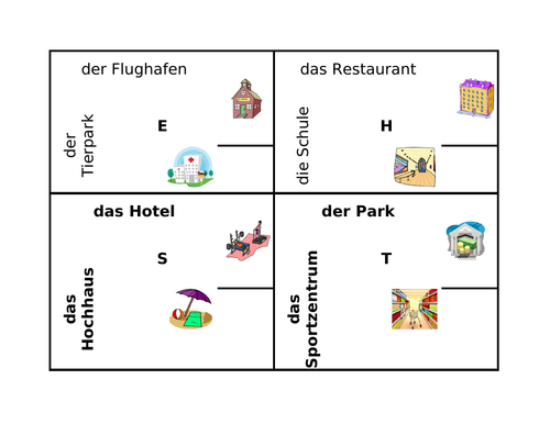 Orte (Places in German) 4 by 4