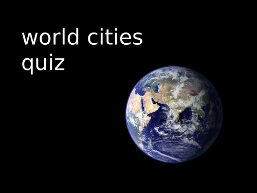World Cities Quiz