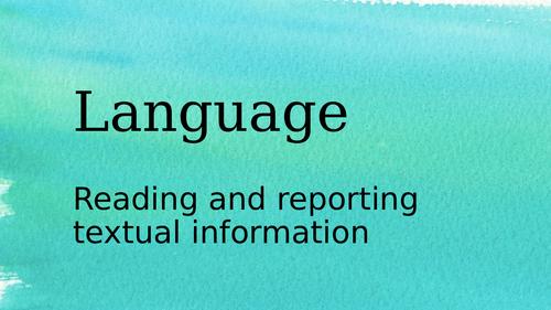 Language Baseline Assessment