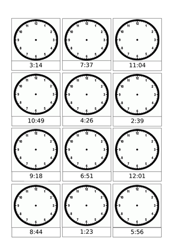 Year 3 - Maths - Time (Unit of Work)