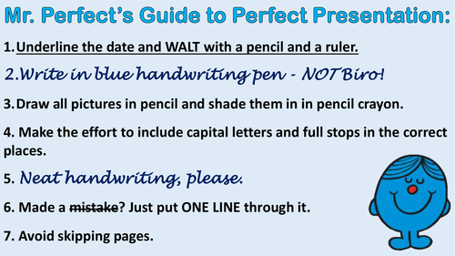 Mr. Perfect's Guide to Perfect Presentation