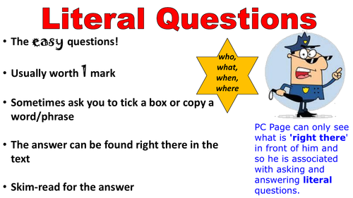 Reading Question Types: