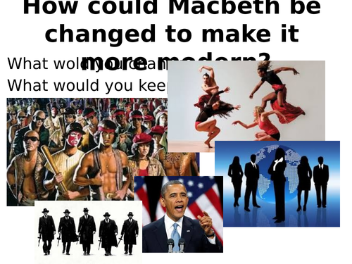 Macbeth Starter slides and Creative acitivity