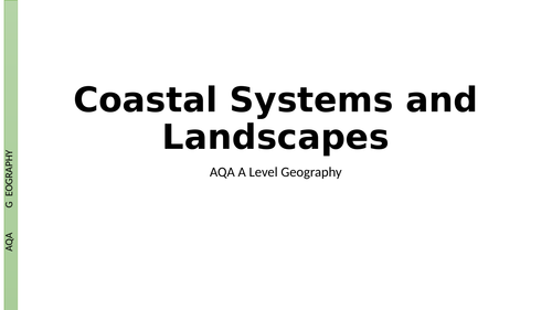 AQA A Level Coastal Systems and Landscapes Revision