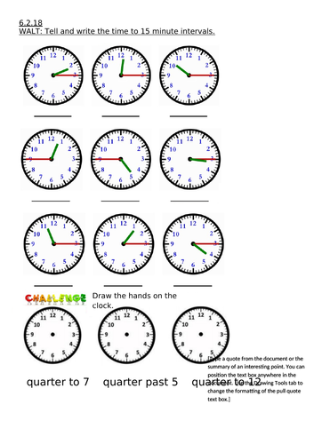 year 2 maths tell the time to the nearest 15 minute interval by bethanylist1 teaching resources. Black Bedroom Furniture Sets. Home Design Ideas