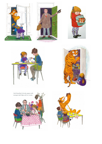 Tiger Who Came to Tea Year 1 differentiated resources (week 2)