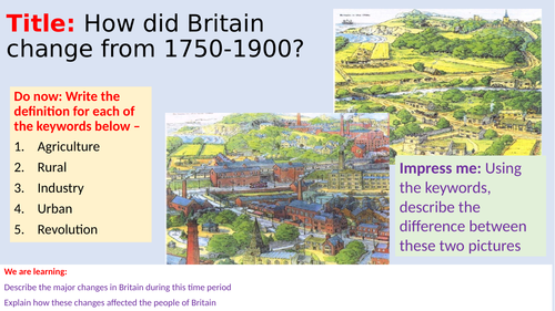 How did Britian change after 1750?