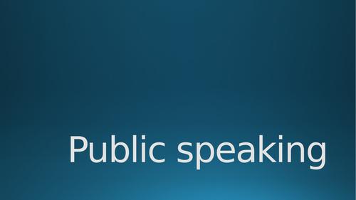 Rhetoric - Public speaking