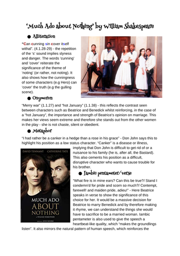 Much Ado about nothing revision guide