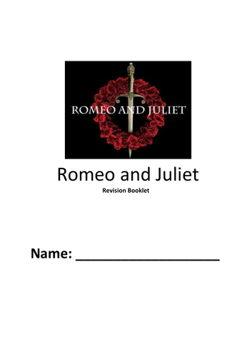 Romeo and Juliet Revision Booklet