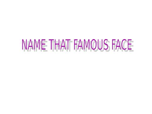 Famous Faces Quiz