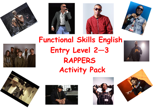 Functional Skills English Rapper Activity Pack