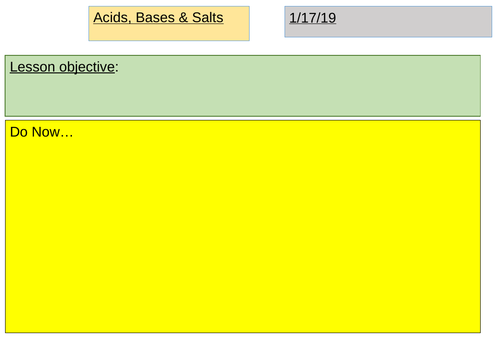 Unit 7: Acids, Bases & Salts