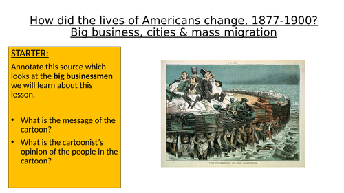 OCR SHP GCSE 9-1 History: How did big business affect the lives of Americans, 1877-1900?