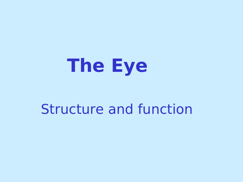 GCSE Biology - The Eye