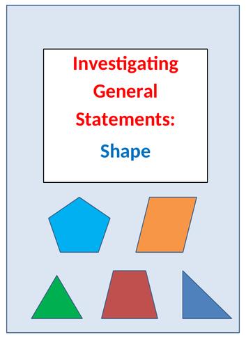 Investigating General Statements: Shape